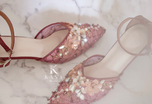 Maroon for Bridal Shoes by Kasa The Label