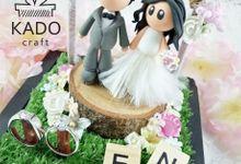 Erik & Natasha Wedding Ring Pillow Ring Box by KadoCraft