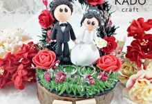 Sandy & Martha Wedding Ring Pillow Ring Box by KadoCraft