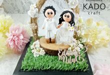 Edwin & Nila Rustic Wedding Ring Pillow Ring Box by KadoCraft