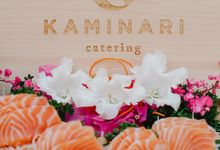 Sushi and Sashimi Stand by Kaminari Catering