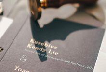 Customized wedding invitation design Y&K by corakrupa