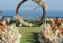 Rustic Natural Wedding Ceremony and Dinner Decoration by Bali Wedding Service