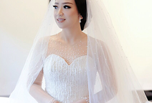 Custom Wedding Gown for Febriana in Bali by Kings Bridal & Tailor