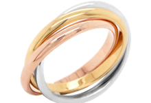 Wedding Bands - The Trinity Ring by Carat 55