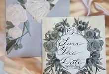 BALLET SILVER AND PINK MONOGRAM WEDDING SUITE by Crimson Letters