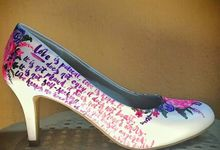 Eds & Fritz #MayForever Pink And Purple Florals by TMP Custom Shoe Studio