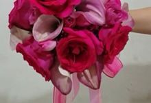 Pink Roses Collection Bridal Bouquet by Amaryllis Floral Art