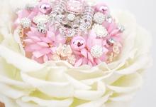 Handbouquet Big Rose Pink by Kukua