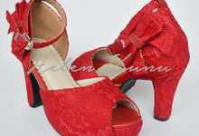 Red series heels  by Helen Kunu by Kunu Looks