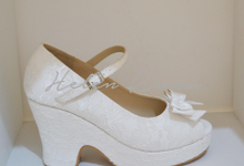 White series wedding shoes  by Helen Kunu by Kunu Looks