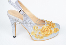 Silver series wedding shoes by Helen Kunu by Kunu Looks