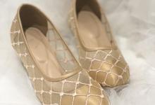 Lily gold heels by Helen Kunu by Kunu Looks