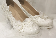 Dominique white heels wedding by Helen Kunu by Kunu Looks