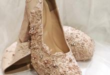 Brigitta pink nude pump wedding shoes by Helen Kunu by Kunu Looks