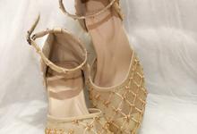 Priska Gold sepatu wedding by Helen Kunu by Kunu Looks