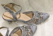 Vanessa silver shoes by Helen Kunu by Kunu Looks