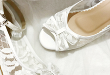 MILLY WHITE WEDDING HEELS by Helen Kunu by Kunu Looks