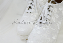Wedges wedding shoes by Helen Kunu by Kunu Looks