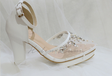 BIRDY WHITE WEDDING SHOES by Helen Kunu by Kunu Looks