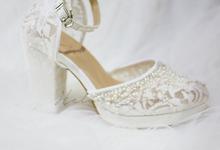 Pearl classic wedding heel  by Helen Kunu by Kunu Looks