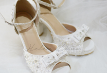 White christmas heels by Helen Kunu by Kunu Looks