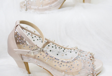 NoVA wedding shoes shimmering bling by Helen Kunu by Kunu Looks