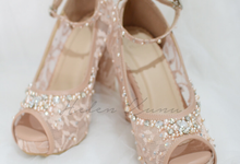 Audelia Cream wedding shoes by Helen Kunu by Kunu Looks