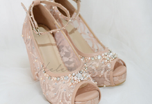 Audelia Cream wedding shoes by Helen Kunu by Kunu Looks