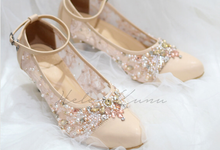 WEDDING BLUSH CREAM HEELS by Helen Kunu by Kunu Looks