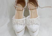 PRISKILA white Heels  by Helen Kunu by Kunu Looks