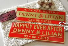 Wedding Car Plate by Sweetlovecollection