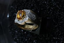 Diamond And Stone Man Rings by Belle Jewelry