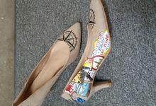 Travel Themed Handpainted Wedding Shoes by TMP Custom Shoe Studio