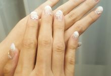 Glam Wedding Nails - Indra Yulia Wedding by Nail It Up!