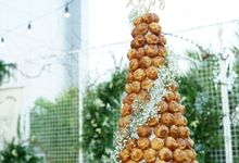 Wedding of Budy & Selvy - Wedding Croquembouche by Questo La Casa Pastry