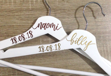 Handlettered Hangers by La Vie Calligraphy
