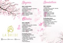 Price List Labride Bridal by La'Bride Bridal