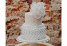 Wedding lace inspired cake decorated with ethereal fantasy peone by Scones n Whatever by Kim Teo