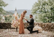Surprise Lake Bled Marriage Proposal by Lake Bled wedding planner Petra Starbek
