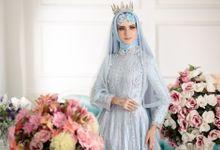 Blue Series Wedding Gown Photoshoot by LAKSMI - Kebaya Muslimah & Islamic Bride