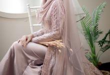 Dusty Pink - Romantic Series Gown Photoshoot by LAKSMI - Kebaya Muslimah & Islamic Bride
