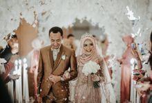 Elegant Pink Dress Dhila & Alfath by LAKSMI - Kebaya Muslimah & Islamic Bride