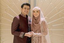Hamas Syahid Izzuddin & Marcellia Resepsi by LAKSMI - Kebaya Muslimah & Islamic Bride