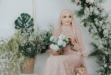 Photoshoot Dusty Pink Rainy by LAKSMI - Kebaya Muslimah & Islamic Bride