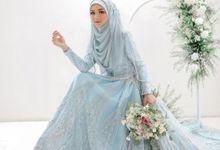 Blue Zakia Sahaja Series by LAKSMI - Kebaya Muslimah & Islamic Bride
