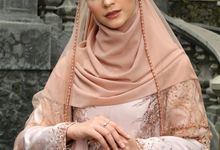 Ottoman Series - Bronze & Soft Nude Red by LAKSMI - Kebaya Muslimah & Islamic Bride