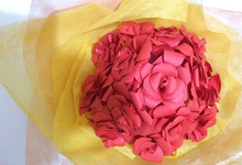 Dekorasi bunga , flowers hand bouquet from paper by lakunaproject