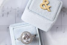 Personalised Engagement Ring Box by L'AMORE
