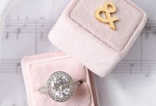 Personalised Handmade Velvet Ring Box by L'AMORE